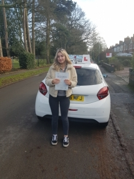 A big congratulations to Emma Baker, who has passed her driving test today at Crewe Driving Test Centre, with just 4 driver faults.<br />