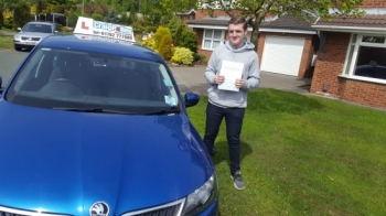 A big congratulations to James Pleavin, who has passed his driving test today at Cobridge Driving Test Centre.<br />