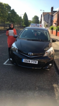 A big congratulations to Janis Hanif, who has passed her driving test today at Cobridge Driving Test Centre, with just 4 driver faults.<br />