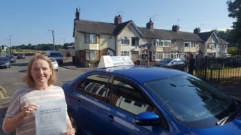 A big congratulations to Jaqui Natty, who has passed her driving test today at Cobridge Driving Test Centre, with just 6 driver faults.<br />