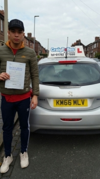 A big congratulations to Jay Steele Jay passed his<br />
