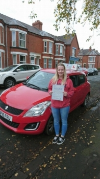 A big congratulations to Kerri-Anne Williams, who passed her driving test today at Crewe Driving Test Centre, first time and with just 4 driver faults.<br />