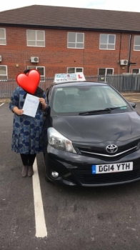 A big congratulations to the lady with the heart shaped face, who has passed her driving test today at Newcastle Driving Test Centre, at her First attempt.<br />