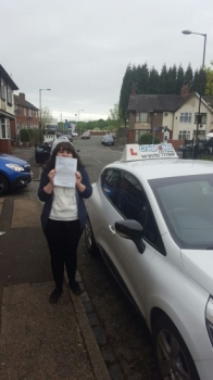 A big congratulations to Lauren Green Lauren passed her driving test today at Cobridge Driving Test Centre first time and with just 5 driver faults <br />