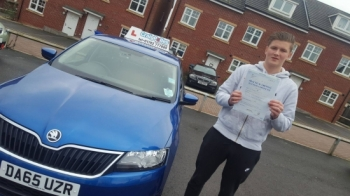 A big congratulations to Liam White, who has passed his driving test today at Cobridge Driving Test Centre, at his First attempt and with just 2 driver faults.<br />