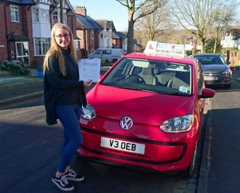 A big congratulations to Libby Dean, who has passed her driving test today at Newcastle Driving Test Centre, at her First attempt and with just 4 driver faults.<br />