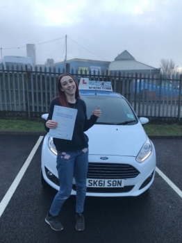 A big congratulations to Megan Wilkinson, who has passed her driving test at Newcastle Driving Test Centre, at her First attempt and with just 5 driver faults.<br />