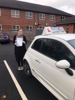 A big congratulations to Merissa Baddeley Merissa passed her driving test at Newcastle Driving Test Centre and with just 4 driver faults<br />