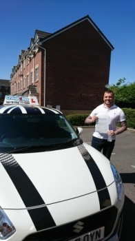 A big congratulations to Michael Gillick, who has passed his driving test today at Crewe Driving Test Centre, with 9 driver faults.<br />