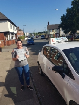 A big congratulations to Monica Graham, who has passed her driving test today at Cobridge Driving Test Centre, with just 2 driver faults.<br />