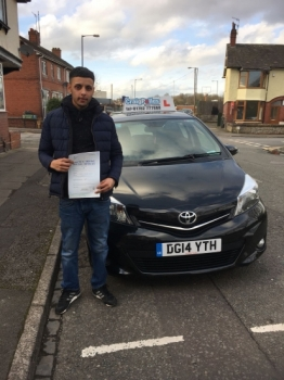 A big congratulations to Nahman Ulhauque, who has passed his driving test at Cobridge Driving Test Centre, with 6 driver faults.<br />