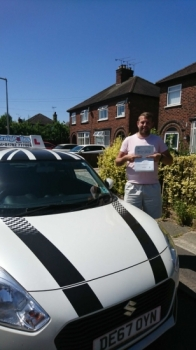 A big congratulations to Nathan Guildford, who has passed his driving test today at Crewe Driving Test Centre.<br />