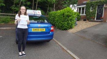 A big congratulations to Niamh Leyland Niamh passed her driving test at Cobridge Driving Test Centre with just 2 driver faults <br />