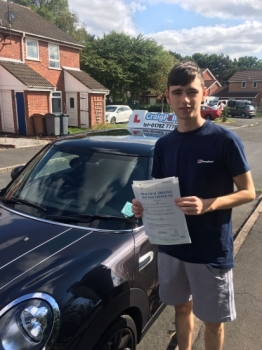 A massive congratulations to Liam Forster, who has passed his driving test today at Newcastle Driving Test Centre, with 0 driver faults.<br />