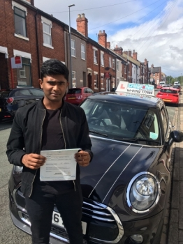 A big congratulations to Johns Abraham, who has passed his driving test today at Newcastle Driving Test Centre, with just 3 driver faults.<br />