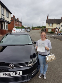 A big congratulations Trina Cook, who has passed her driving test at Cobridge Driving Test Centre.<br />