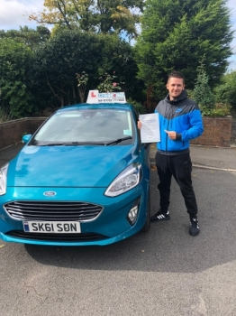 A big congratulations to Ben Hankey, who has passed his driving test today, at Newcastle Driving Test Centre, with just 3 driver faults.<br />
