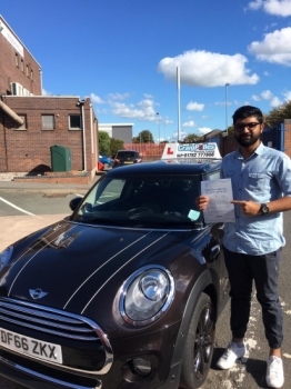 A big congratulations to Harish Nair, who has passed his driving test today at Newcastle Driving Test Centre with just 4 driver faults.<br />