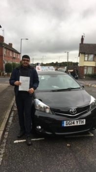 A big congratulations to Ajmal Hussain, who has passed his driving test today, at Cobridge Driving Test Centre, with just 2 driver faults.<br />
