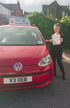 A big congratulations to Zoey Walsh, who has passed her driving test today at Newcastle Driving Test Centre, with just 5 driver faults.<br />