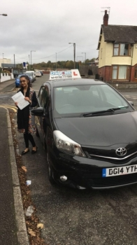 A big congratulations to Sabah Amin, who has passed her driving test today at Cobridge Driving Test Centre,<br />