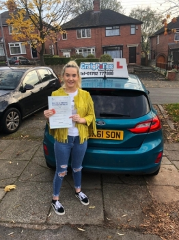 A big congratulations to Bethany Leese, who has passed her driving test today at Newcastle Driving Test Centre, with 7 driver faults.<br />