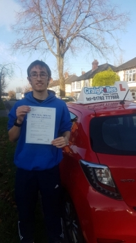 A big congratulations to Jacob Droogmans, who has passed his driving test today at Newcastle Driving Test Centre.<br />
