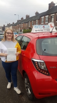 A big congratulations to Georgia Hodges, who has passed her driving test today at Newcastle Driving Test Centre with just 4 driver faults.<br />