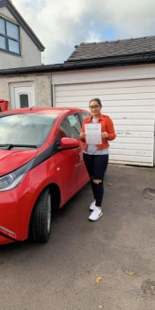 A big congratulations to Laetitia Efori, who has passed her driving test today at Newcastle Driving Test Centre, at her First attempt and with just 6 driver faults.<br />