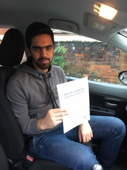 A big congratulations to Muhammad Umar Hashmi, who has passed his driving test today at Newcastle Driving Test Centre, with just 1 driver fault.<br />