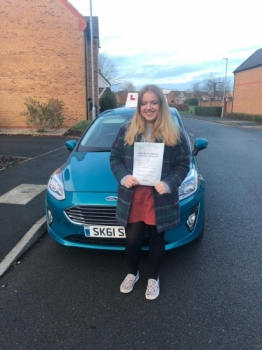 A big congratulations to Elizabeth Keay, who has passed her driving test today at Newcastle Driving Test Centre, on her First attempt and with just 2 driver faults.<br />