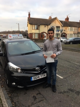 A big congratulations to Mohammad Fayyaz, who has passed his driving test toady at Cobridge Driving Test Centre.<br />