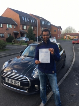 A big congratulations to Dr Nadir Kiddo, who has passed his driving test today at Buxton Driving Test Centre.<br />