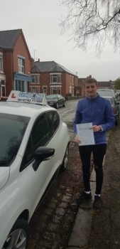 A big congratulations to Josh Priestman, who has passed his driving test today at Crewe Driving Test Centre.<br />