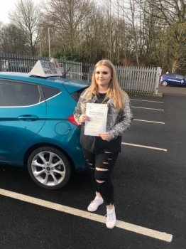 A big congratulations to Tara Parkes, who has passed her driving test today at Newcastle Driving Test Centre, with 6 driver faults.<br />