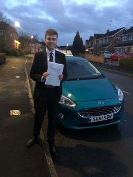 A big congratulations to Louis Wetton, who has passed his driving test today at Newcastle Driving Test Centre, with 6 driver faults.<br />
