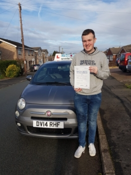 A big congratulations to Sam Twigg, who has passed his driving test today at Newcastle Driving Test Centre, on his First attempt.<br />