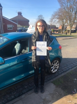 A big congratulations to Jazmyn Clutton-Smikle, who has passed her driving test today at Cobridge Driving Test Centre, on her First attempt and with 7 driver faults.<br />