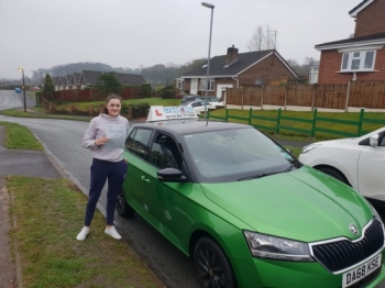 A big congratulations to Molly Nicklin, who has passed her driving test today at Newcastle Driving Test Centre.<br />