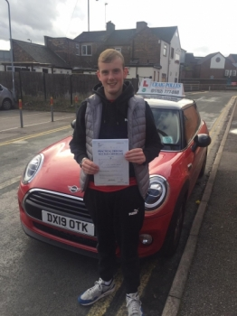 A big congratulations to Will Edwards, who has passed his driving test at Newcastle Driving Test Centre, on his First attempt and with just 6 driver faults.<br />