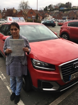 A big congratulations to Annie Tomy, who has passed her driving test today at Buxton Driving Test Centre, with 8 driver faults.<br />