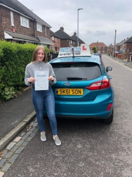 A big congratulations to Destiny Byatt, who has passed her driving test today at Newcastle Driving Test Centre, with 9 driver faults.<br />