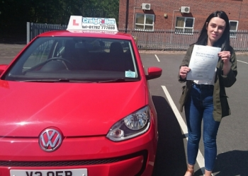 A big congratulations to Sophie Massey, who has passed her driving test today at Newcastle Driving Test Centre, on her First attempt and with just 2 driver faults.<br />