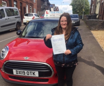 A big congratulations to Emma Woolley, who has passed her driving test today at Newcastle Driving Test Centre, on her First attempt and with just 2 driver faults.<br />