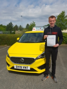 A big congratulations to Lewis Christey, who has passed his driving test today at Newcastle Driving Test Centre, on his First attempt and with just 4 driver faults.<br />