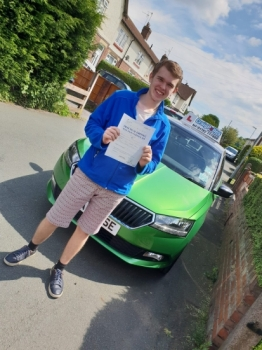 A big congratulations to Robert Tschelebinski, who has passed his driving test today at Cobridge Driving Test Centre, with just 2 driver faults.<br />