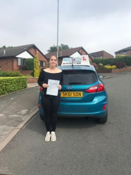 A big congratulations to Dana Bettany, who has passed her driving test at Cobridge Driving Test Centre.<br />