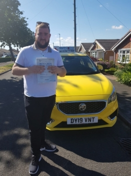 A big congratulations to Alex Thomas, who has passed his driving test today at Cobridge Driving Test Centre, with just 2 driver faults.<br />