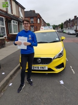 A big congratulations to Josh Green, who has passed his driving test today at Cobridge Driving Test Centre, with just 5 driver faults.<br />