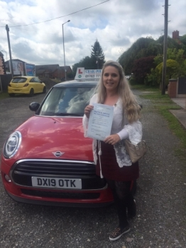 A big congratulations to Alisha Lawton, who has passed her driving test today at Newcastle Driving Test Centre, at her First attempt.<br />
